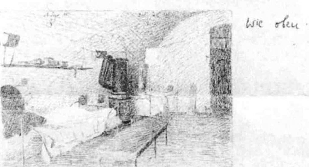 Офицерска камера в Ингольштадт. Рисунок пленного французского офицера, 1918 г., из лич. коллек. Треффера.jpeg