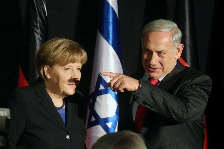 меркель, нетаньяху, гитлер, усы.jpg