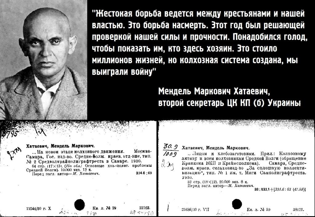 мендель хатаевич, украина, голодомор