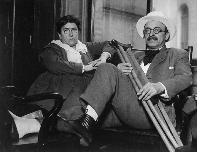Эмма Голдман и Александр Беркман в 1917-м, после завершения суда