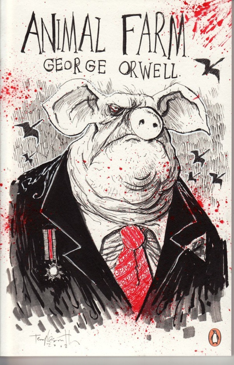 a symbolical political satire in the animal farm by george orwell George orwell george orwell (1903-1950) is one of england's most famous writers and social commentators he is the author of the classic political satire animal farm and the dystopian masterpiece nineteen eighty-four.